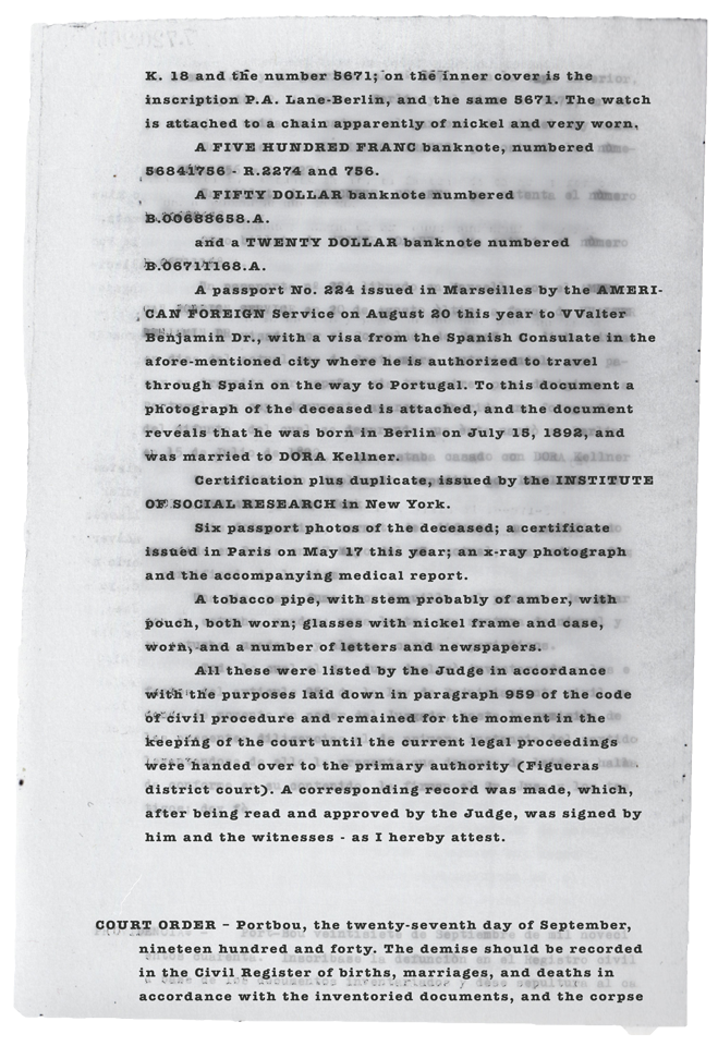 page two of the judge's records